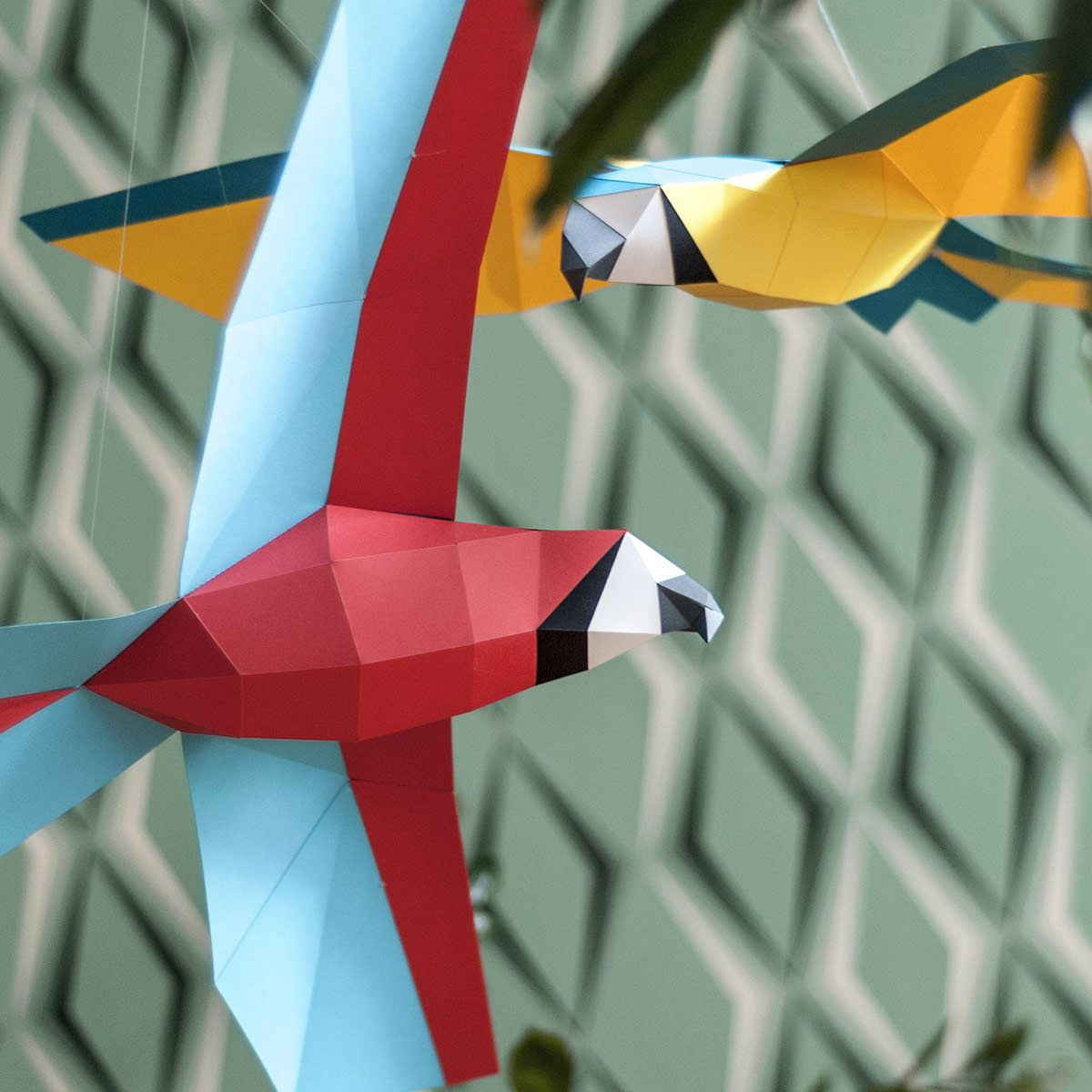 Origami Bird Tutorial - How to fold a Parrot | Origami parrot ... | 1200x1200